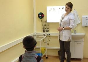 Определение остроты зрения - проверка у врача
