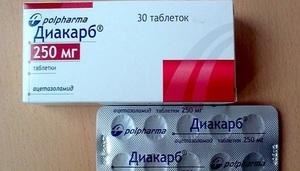 Состав и фармакологические свойства таблеток Диакарб