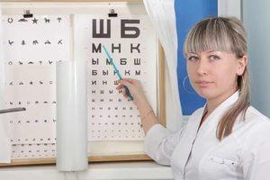 Доска окулиста для проверки зрения